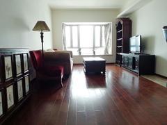 兰溪谷二期 L形大阳台 客厅卧室全屋木地板 拎包入住租房效果图